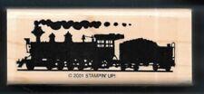 VINTAGE LOCOMOTIVE TRAIN ENGINE COAL CAR  All Aboard STAMPIN' UP! rubber stamp