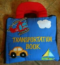 Hand Made Soft Fabric Book Of Transportation By Learn And Play
