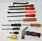 Lot+of+12+Mixed+Toolbox+Hand+Tools+-+Screwdrivers%2C+Files%2C+Crowbars%2C+Hammer+