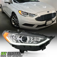 2017-2019 Ford Fusion Halogen w/LED DRL Projector Headlight Headlamp - Passenger
