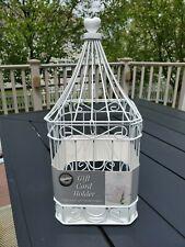 Wilton Metal Wedding/Mitzvah Birdcage Gift Card Holder Beautiful Money Box