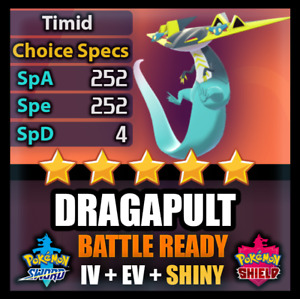 6IV Shiny Dragapult Pokemon Sword Shield and BATTLE READY + Can Breed with Ditto