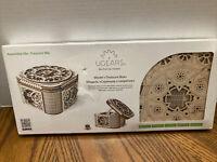 UGears Treasure Box 3D Puzzle Wooden Mechanical Model KIT U Assemble Unique NEW