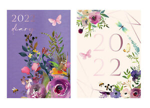 2022 Week to View A6 Vintage Floral Butterfly Diary Hardback Planner Organiser