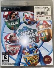 Hasbro Family Game Night 3 (Sony PlayStation 3, 2010) Family Fun PS3,