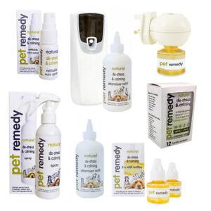 Pet Remedy Dog Cat Anxiety & De-Stress Calming Spray, Diffuser, Refill, Wipes