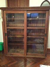 More details for large old oak school cupboard
