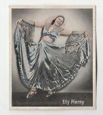 1930s German Dance Floors Of The World Tobacco card #004 Elly Pierny