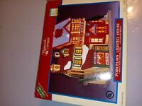 Lemax Porcelain Lighted House 1995 Vintage Plymouth Corners 55192  Village