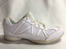 SMART FIT Girls Sz 1 Youth Casual Athletic Sneaker Tennis Shoe White Non Marking