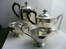 4 tlg.Kaffee-Teeservice Edvard Viner Scheffield 1930 Sterling Silber 1052 Gr.