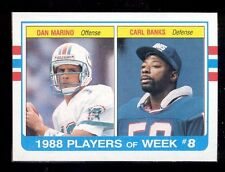 1989 Topps DAN MARINO CARL BANKS Miami Dolphins New York Giants Box Bottom Card
