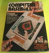 Tiger Electronic Toys Computer Baseball Handheld Game 1979 Works Great with box