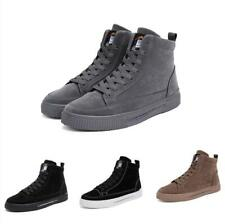 Casual  Fashion Mens High Top Sneakers Boots Shoes Lace up Outdoor Walking Flats