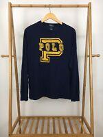 VTG Polo Ralph Lauren Boy's P Spellout Long Sleeve T-Shirt Size YOUTH XL