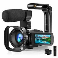 Video Camera with Microphone 2.7K Camcorder HD 36MP/30FPS YouTube Vlogging Camer