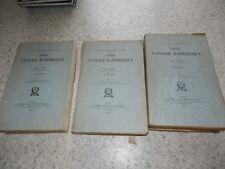 1942.Cours d'analyse mathématique.3/3.Edouard Goursat