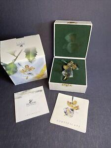 1998 SWAROVSKI ANGEL with HARP ORNAMENT Crystal Memories Christmas Original Box