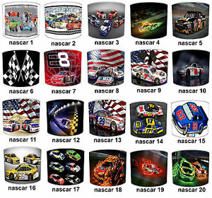 NASCAR Lampshades, Ideal To Match NASCAR Wall Decals & Stickers.