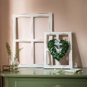 Fenster Deko Fensterrahmen Sprossenfenster Holz Shabby Chic 40 / 60 cm - Auswahl