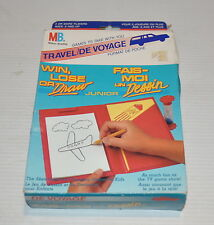 WIN LOSE OR DRAW Travel Edition  1988 Milton Bradley GAME
