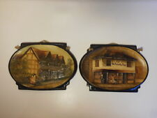 BRETBY ART POTTERY SHAKESPEARE'S HOUSE & THE OLD CURIOSITY SHOP SMALL PLAQUES