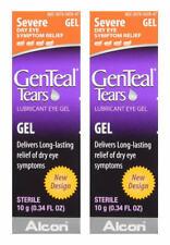 Genteal Tears Severe Lubricant Eye Gel 0.34 oz (EXP: Dec 2020 ) -  2 Tubes