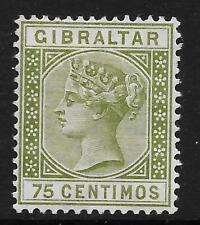 Gibraltar 1890 75c. Olive-Green SG 29 (Mint)