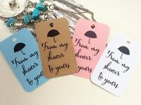 10 Kraft White Gift Tags Baby Shower Bomboniere Favour From My Shower To Yours