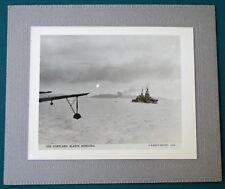 WW II Cruiser USS Portland Blasts Mindoro Philippines vintage US Navy Photo
