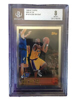 KOBE BRYANT ROOKIE CARD 1996 Topps NBA 50TH FOIL #138 BGS 8 RC ⬆️Invest💜💛