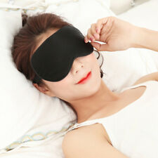 100% Mulberry Silk Sleep Eye Mask Padded Shade Cover Travel Relax Aid Blindfold