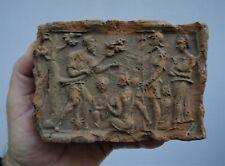 flandre - carreau - brique en terre cuite 15 - 16ème siècle - scène de baptème