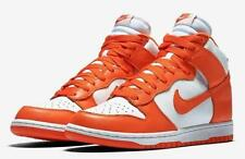 MENS NIKE DUNK RETRO QS  B850477 101 White Orange UK 8  RRP £90 NEW LEATHER