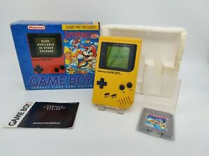 Nintendo Game Boy DMG-01 Yellow Console - Super Mario Land Edition UKV - Boxed