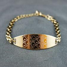 18k Gold plated with Swarovski crystals elegant bangle bracelet