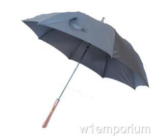 Novelty Riffle Gun Umbrella, Golf Umbrella, Cosplay. (with Carry Case) UK seller