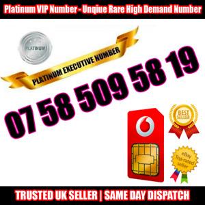 PLATINUM Number - VIP Executive Sim - 07 58 509 58 19 - Easy to Memorise