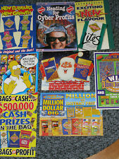 Smith's Chips Advertising Promotional Retailer flyers from 1990's lot of 8