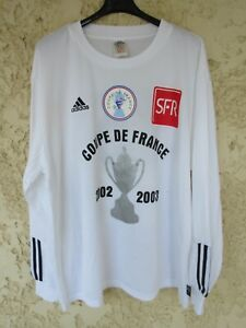 Maillot porté 11 COUPE DE FRANCE 2003 ADIDAS vintage blanc match worn shirt L/S