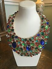 Vintage SCAASI Signed HAUTE COUTURE Bib CABOCHON RHINESTONES Statement NECKLACE