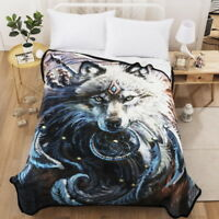 3D Dream Catcher Wolf Bedding Quilt Comforter Plush Blanket Cloth Wall Hangings
