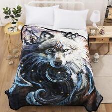 3D Dream Catcher Wolf Bedding Quilt Comforter Plush Blanket Cloth Wall Hangings