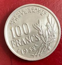 100 francs Cochet 1958 chouette, SUP-, rare, port AR