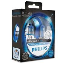 Philips H4 Color Vision Blue/ Blau Halogen Lampen +60% mehr Licht 12V 60/55W Duo