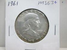 1961 US FRANKLIN SILVER HALF DOLLAR