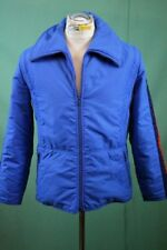Cooler vintage Ski Anorak Jacke 52/L Kitzbühel blau retro oldschool Polyamid