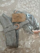 Thoroughbeds Grey Tweed Dog/Puppy Harness Walking/Training Luxury Rose Gold XS