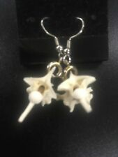 Blood Creations exotic leather & jewelry Real Snake Bone Earrings by Cold