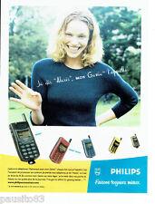 PUBLICITE ADVERTISING 096  1998  Philips  téléphone mobile  Génie